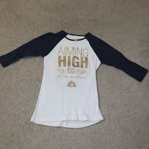 Tops - Phi Sigma Sigma quarter sleeve shirt